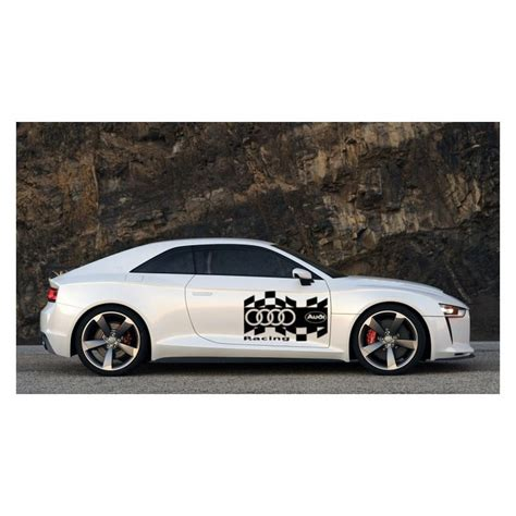 Audi Racing Car Logo Car Sticker, Auto Decal, Car