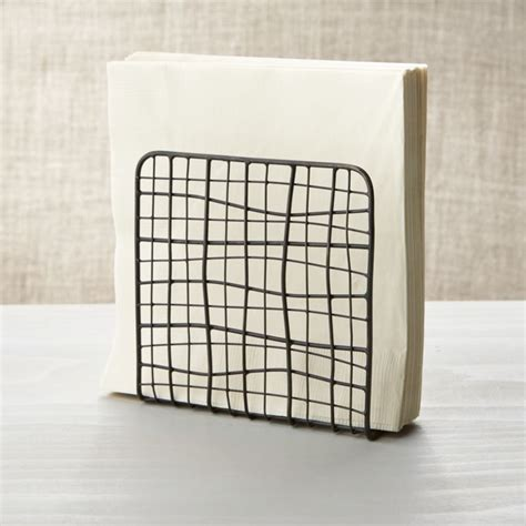 bendt iron wire napkin holder reviews crate  barrel