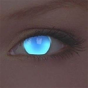 UV Glow Electric Blue Crazy Colour Contact Lenses 1 Year