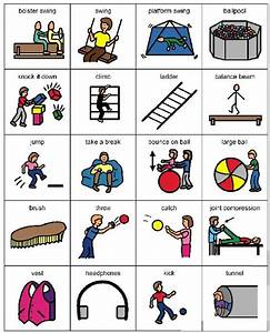 Living Well, sensory integration picture cards …