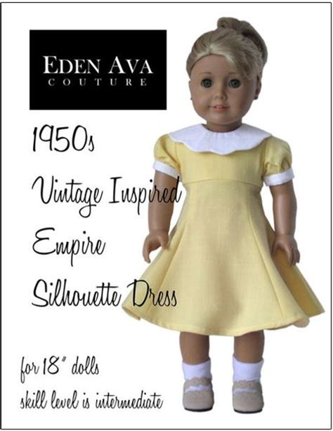 silhouette dress   doll clothes pattern