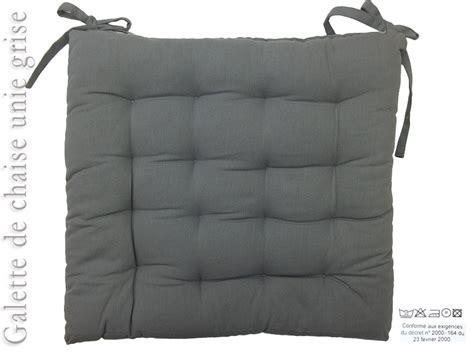 galette de chaise grise galette de chaise grise capitonne 40x40cm