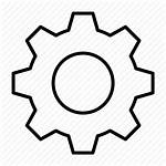 Gear Cog Icon Setting Clipart Detailed Modify