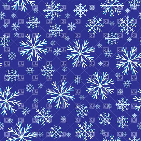Blue Snowflake Background Clipart by Seamless Winter Snowflakes Blue Background Vector Image Of