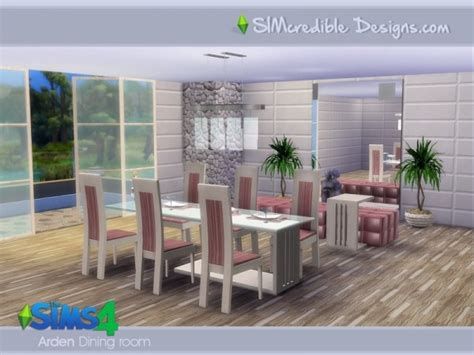 The Sims Resource Arden Dining Room By Simcredible • Sims