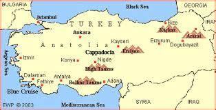 Taurus Mountains Map Location