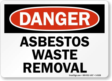 asbestos warning signs asbestos hazard signs