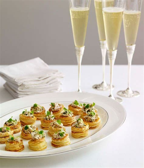 puff pastry canapes ideas chagne chicken vol au vents appetizers snacks canapes puffs bites