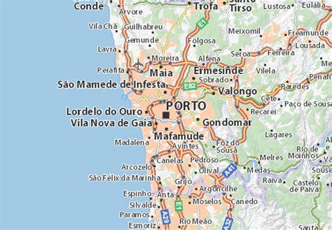 map of porto michelin porto map viamichelin