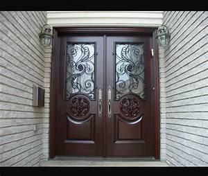 Double doors exterior wood double doors for Exterior double entry doors