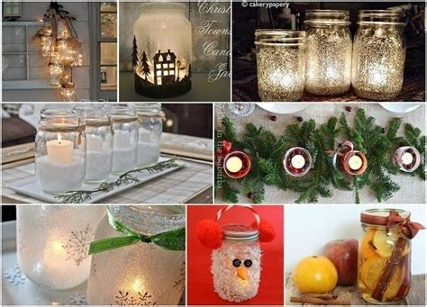 cute mason jar christmas decorations