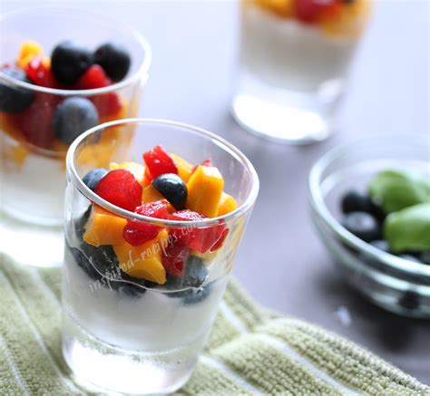 fruit and yogurt dessert and healthy inspired recipes