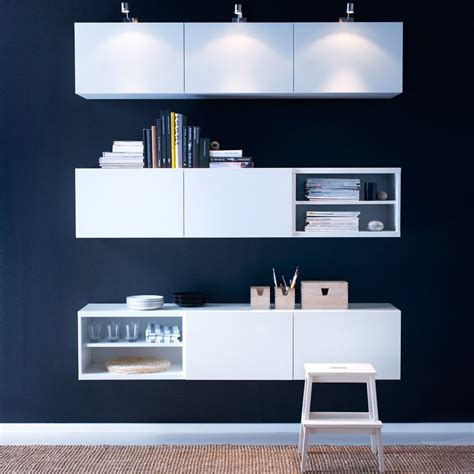 Ikea Office Cupboards by Best 197 White Wall Cabinets With Doors And Grundtal