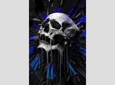 Schmelzen Totenkopf Handy Logo, Kostenlos Hintergrundbild