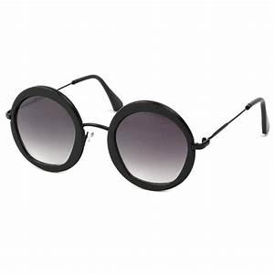 Lunette Soleil Ronde Homme : achat lunette ronde noire vintage carly choix sur ~ Nature-et-papiers.com Idées de Décoration