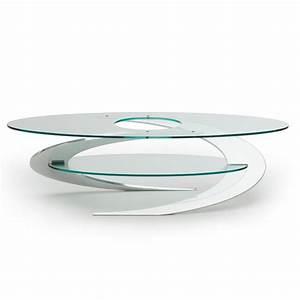Tavolino Elica Iperdimensione da salotto in alluminio e