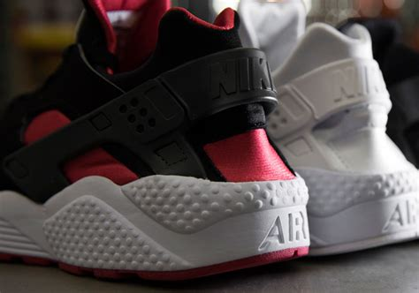 Red and Black Nike Air Huarache