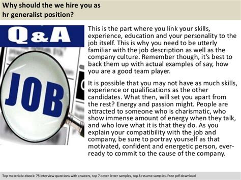 Questions For Hr Generalist by Hr Generalist Questions