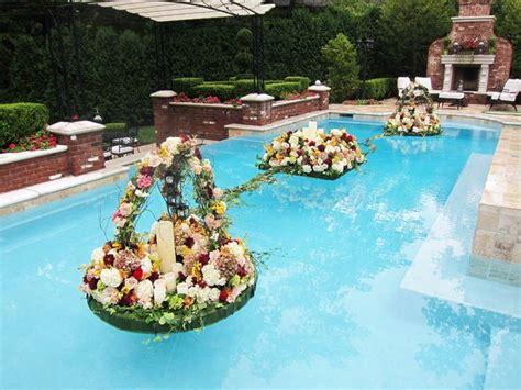 floating flowers  pool flowers york floristpool