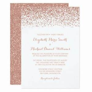 The 25 best glitter wedding invitations ideas on for Rose gold winter wedding invitations