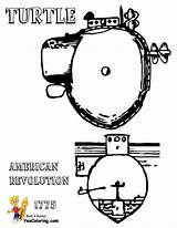 Submarine Coloring Pages Turtle American Yescoloring 1776 Navy Uss Boss sketch template