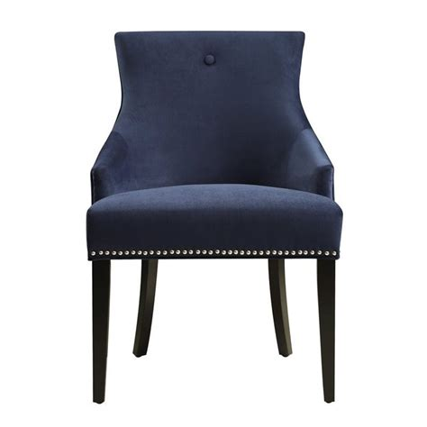 decorative stools and benches pri accent chair in navy blue ds 2520 900 393