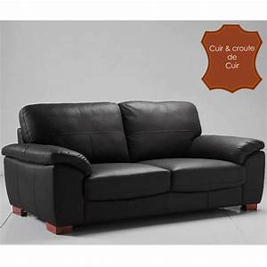 Canapé 4 Places Cuir : canape places cuir ~ Teatrodelosmanantiales.com Idées de Décoration