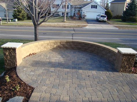 front yard paver designs front court yard with cobble pavers traditional patio minneapolis by bachman s landscape