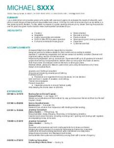 Fsu Resume by Kitchen Manager Resume Exle Florida State Tallahassee Florida