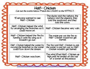chicken folktale   effect sequencing