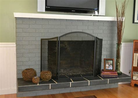 painting a fireplace grey painted brick fireplace fireplace designs