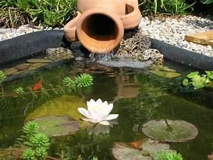Fontaine Pour Bassin A Poisson : jarre pour bassin de jardin bassin de jardin ~ Voncanada.com Idées de Décoration