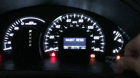 camry hybrid maintenance required light reset youtube