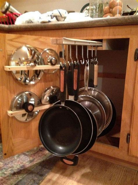 pots and pans rack cabinet diy sliding pots and pans rack diy projects for everyone