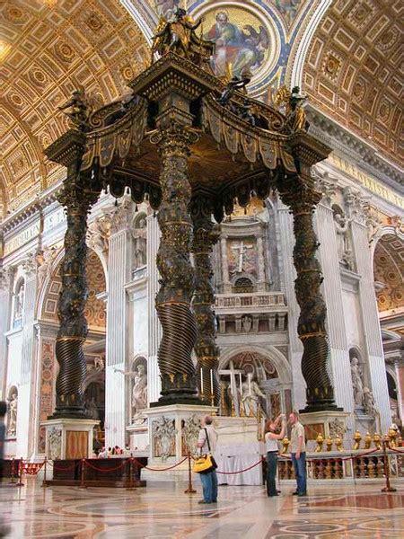 Bernini Baldacchino by Baldacchino Di San Pietro Di Roma Monumento Arte It