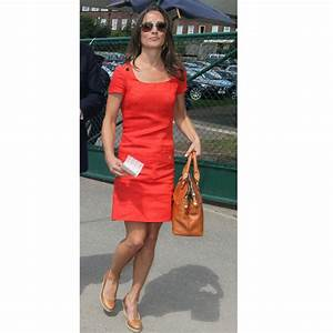 look du jour pippa middleton en robe d39ete rouge corail With chaussure avec robe corail