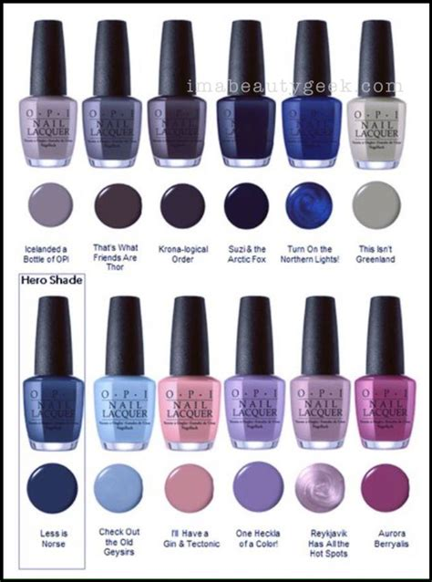 opi colors opi california dreaming collection swatches review 2017