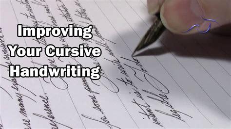 improving  cursive handwriting youtube