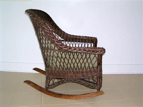 a mid century modern heywood wakefield wicker rocking