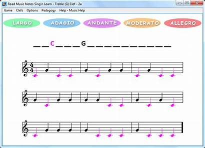 Notes Read Learn Sing Clef Easy Treble
