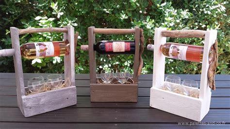 porte bouteille de vin personnalisable en bois de palettes