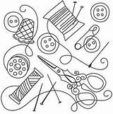 Sewing Collage Urbanthreads Embroidery Needlework Line Tools Drawings Patterns Outline Thread Coloring Urban Threads Quilting Pattern Stitch Change Paper Times sketch template
