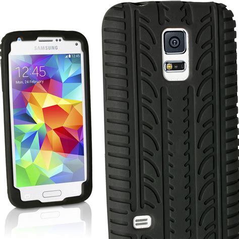 custom samsung galaxy s5 igadgitz black tyre tread silicone rubber gel skin