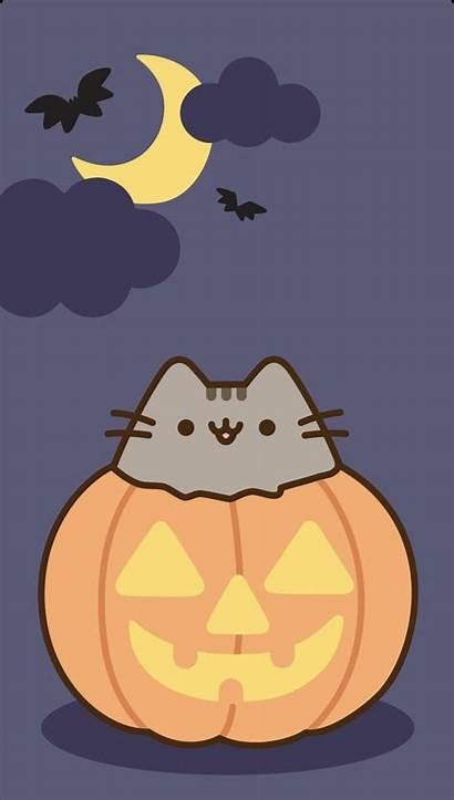 Halloween Kawaii Pusheen Wallpapers Cat Fondos Iphone