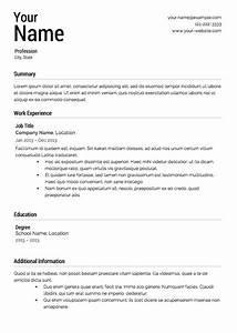 job resume template jennywasherecom With free resume samples for jobs
