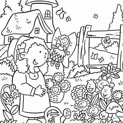 Coloring Garden Flower Pages Landscape