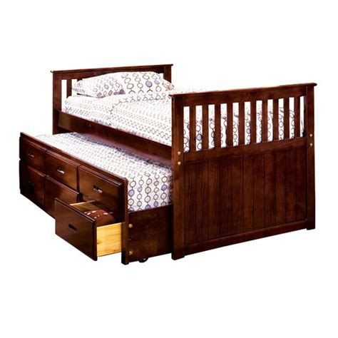trundle wood bed sears com