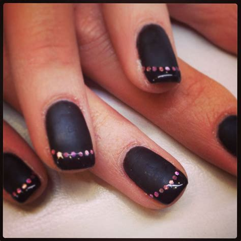 Ongles noir mat by ongles malins youtube