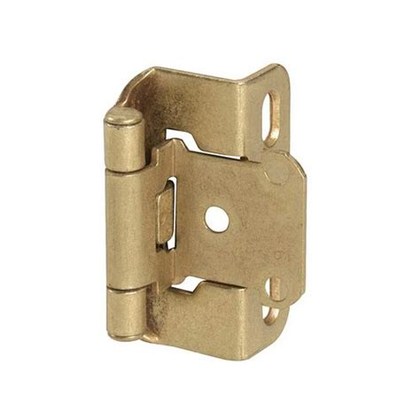 amerock cabinet hinge parts amerock partial wrap 1 2 quot overlay hinge burnished brass