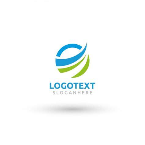free logo designs circular wave logo template vector free